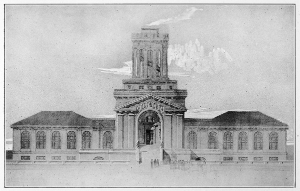 rendering of Machinery Hall, now Hamerschlag Hall